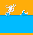 Gear background Useful background for construction vector image vector image