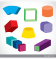 geometric shapes platonic solids vector image