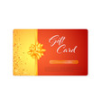 gift card tied gold ribbon and bow gold vector image