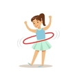 Girl Doing Hula-hoop Kid Practicing Different vector image vector image