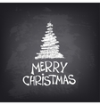 Hand drawn Merry Christmas text with stylized tree vector image vector image