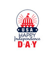 happy independence day emblem silhouette of vector image vector image