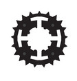 isolated gear silhouette vector image