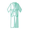 karate belt wear vector image vector image