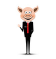 man with pig head vector image