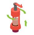 mechanical corkscrew icon isometric style vector image