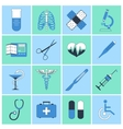 Medical icons flat line vector image