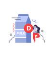 milk vitamin d composition vector image