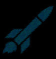 missile launch composition icon of halftone vector image vector image