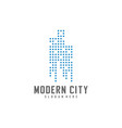 modern city logo design template real estate logo vector image vector image