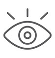 monitoring line icon security and eye vision vector image vector image