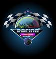 night racing championship vector image vector image