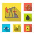 oil industry flat icons in set collection for vector image vector image