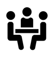 People sitting at table vector image vector image