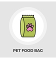 Pet food bag flat icon vector image vector image