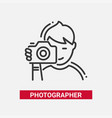 photographer - line design single isolated icon