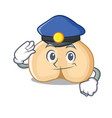 police chickpeas character cartoon style vector image vector image