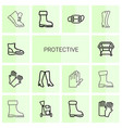 protective icons vector image vector image