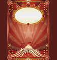 red magic circus background vector image vector image