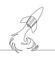 rocket continuous line vector image