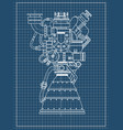 rocket engine design it can be used as an vector image