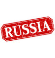 russia red square grunge retro style sign vector image vector image