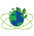 science green world vector image