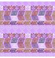 Seamless ethnic purple pattern vector image vector image