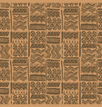 seamless hand-drawn ethnic brown ornate vector image vector image