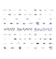 set hand drawndoodle sketched grunge brushes vector image