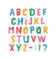 set of alphabet letters and punctuation vector image