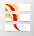 Set of banner star design vector image vector image