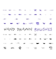 Set of hand drawndoodle sketched grunge brushes vector image vector image