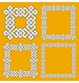 Set of magic knotting frames vector image