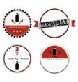 Set of medical shop labels and design elements vector image vector image
