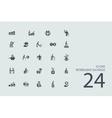Set of retirement savings icons vector image