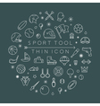 Sport thin icons eps10 format vector image vector image
