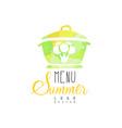 summer menu logo element for vegetarian vector image