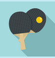 table tennis paddle icon flat style vector image vector image