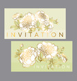 tender white peony flower with gold outline vector image vector image
