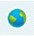 the earth isolated on transparent background vector image vector image