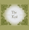 The end text in Gothic Style vector image