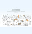 thin line art weather poster banner vector image vector image
