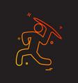 throw icon design vector image