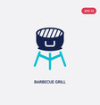 two color barbecue grill icon from food concept vector image vector image