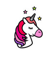 unicorn icon isolated on white background vector image vector image