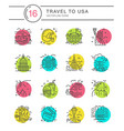 United states icons vector image