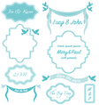 wedding frames vintage invitation borders vector image vector image