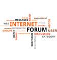 word cloud internet forum vector image vector image
