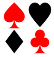 card suits on the contrary vector image